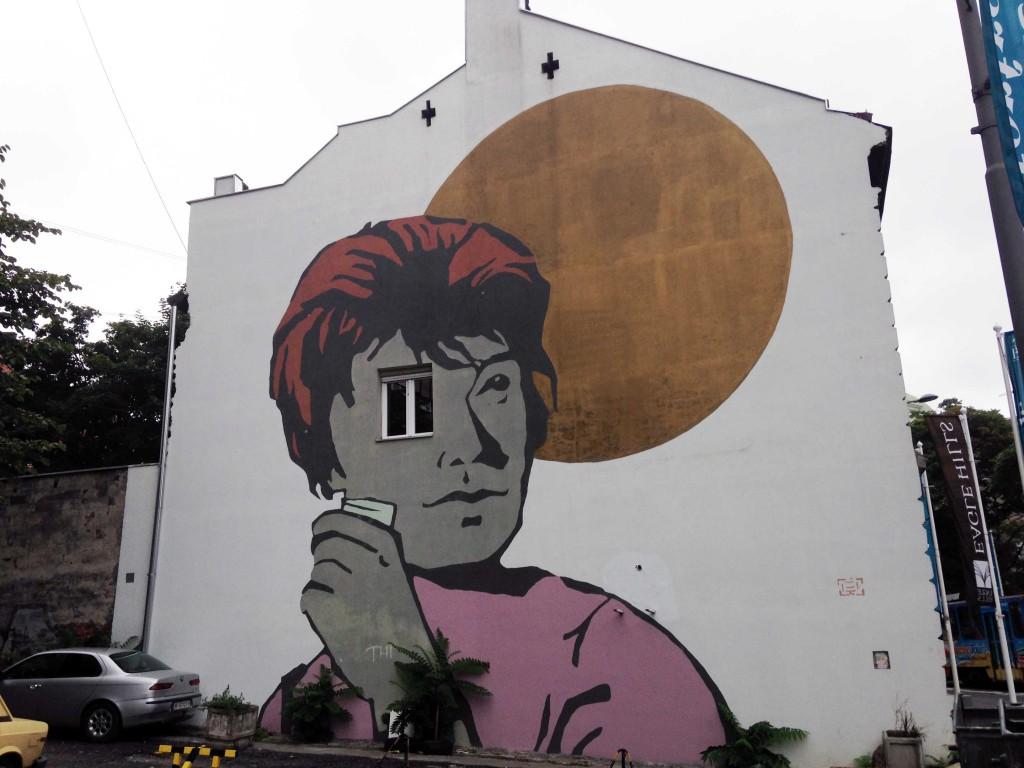 Alekasandar Macasev wall in Serbia