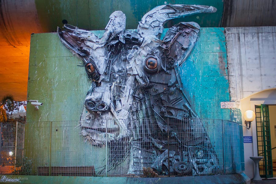 Bordalo ii in Rome, Italy