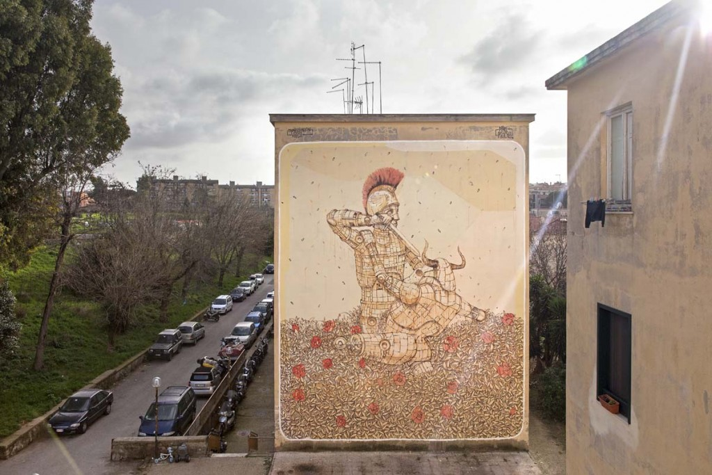 Pixelpancho New Mural in Rome