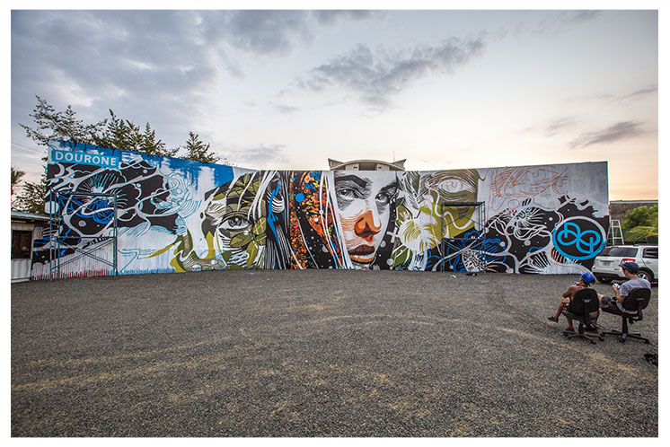New mural by Dourone in Costa Rica