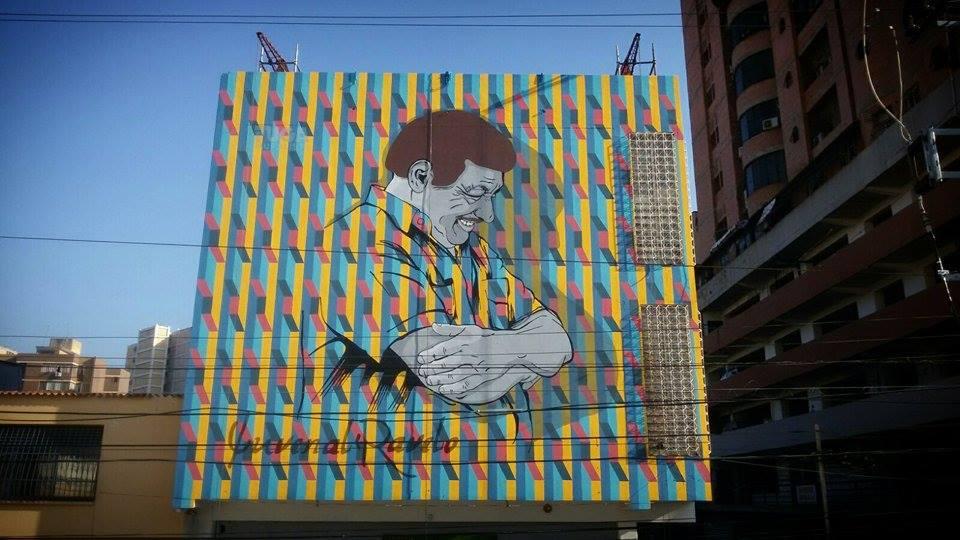 Fuga Muralista mural Homenaje al maestro Juvenal Ravelo Maracay 2015