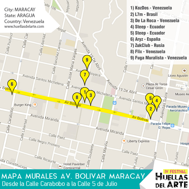 Map of Murals