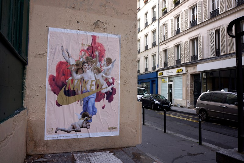 Zalez new street intervention in Paris