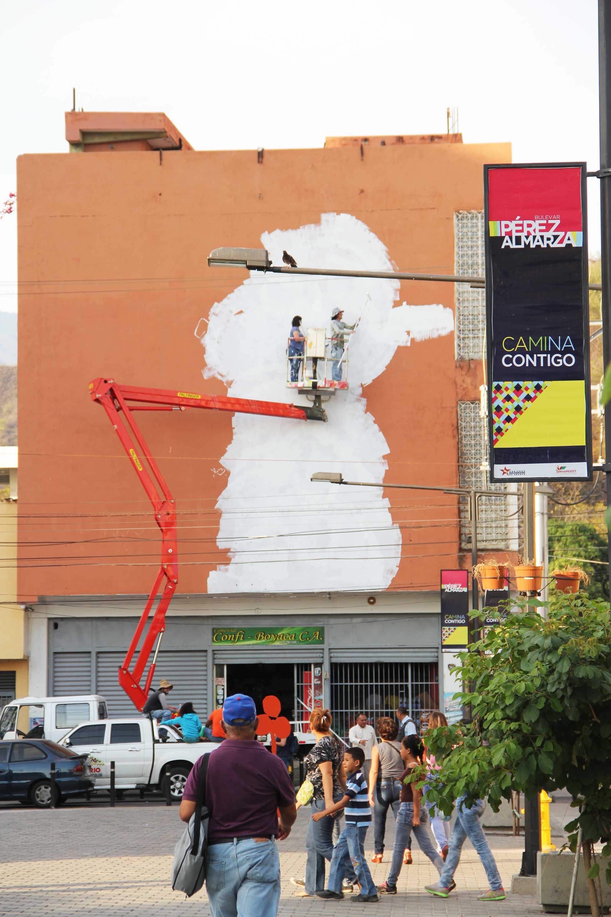 Fuga mural in action
