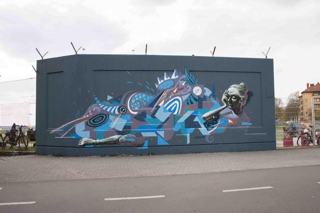Mural in Berlin (Sokar – Kera – Skount)