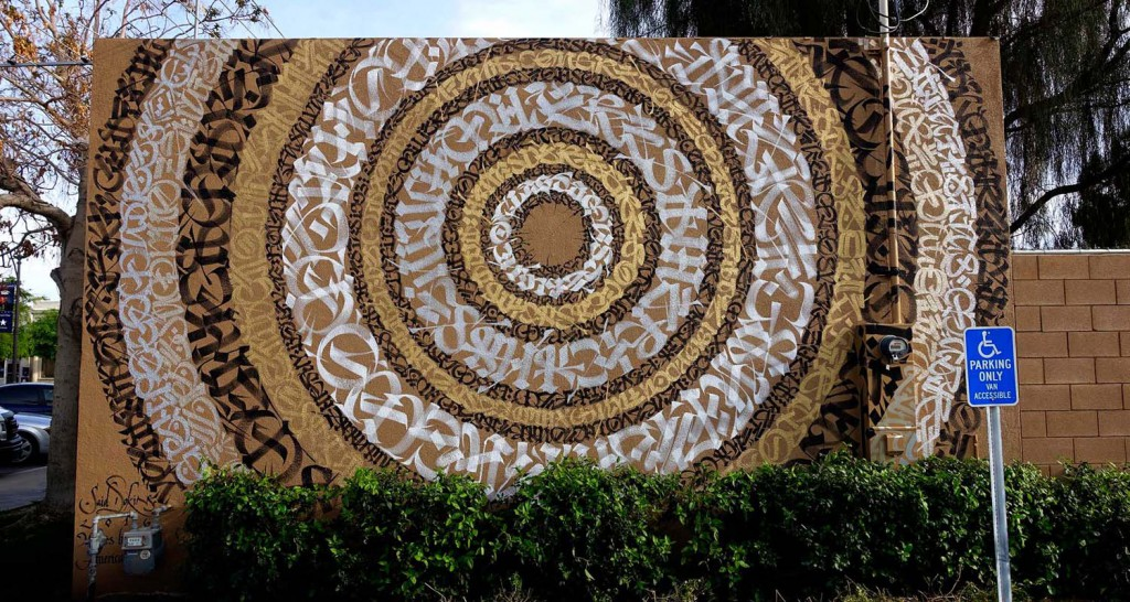 Said Dokins wall in CA for COACHELLA WALLS