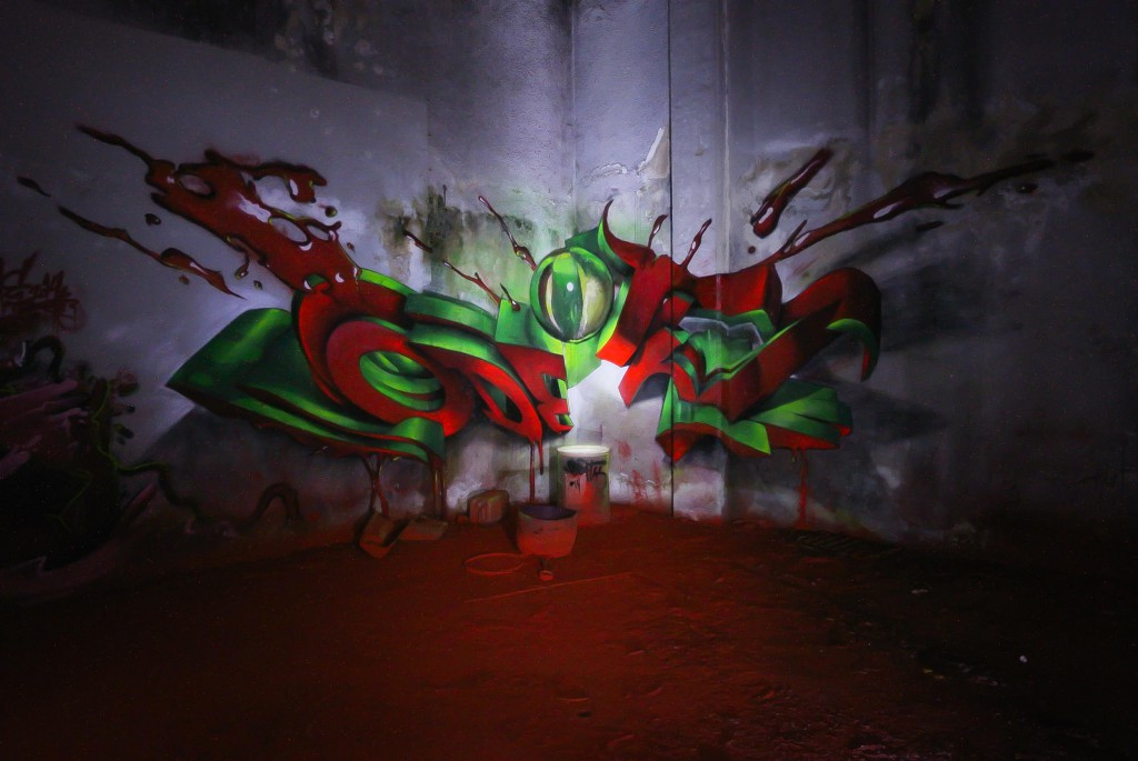 spot light anamotphic red floor - odeith 2014