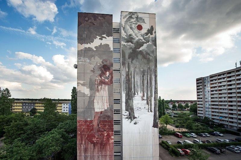 Borondo wall in Berlin