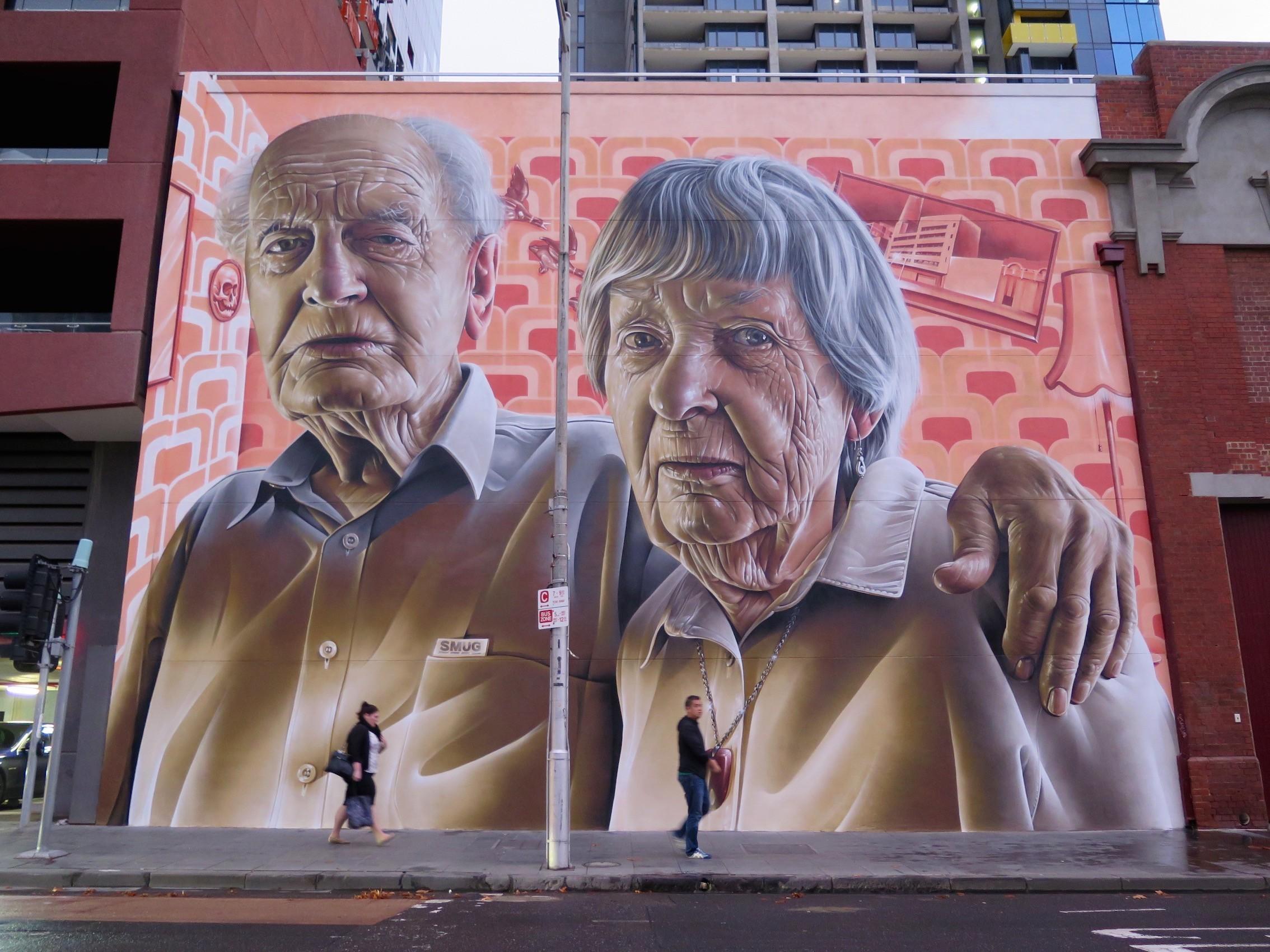 """Grandparents"" by Smug in Melbourne. Photo @Deansunshine"