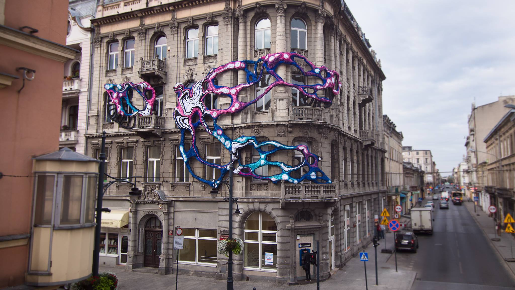 Crystal Wagner instalation in Lodz, Poland