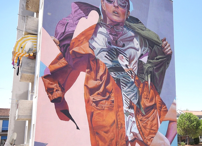 New mural in Italy for Anime Di Strada