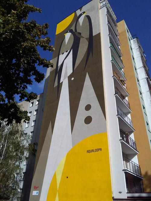 Aqualoopa wall in Warsaw, Poland