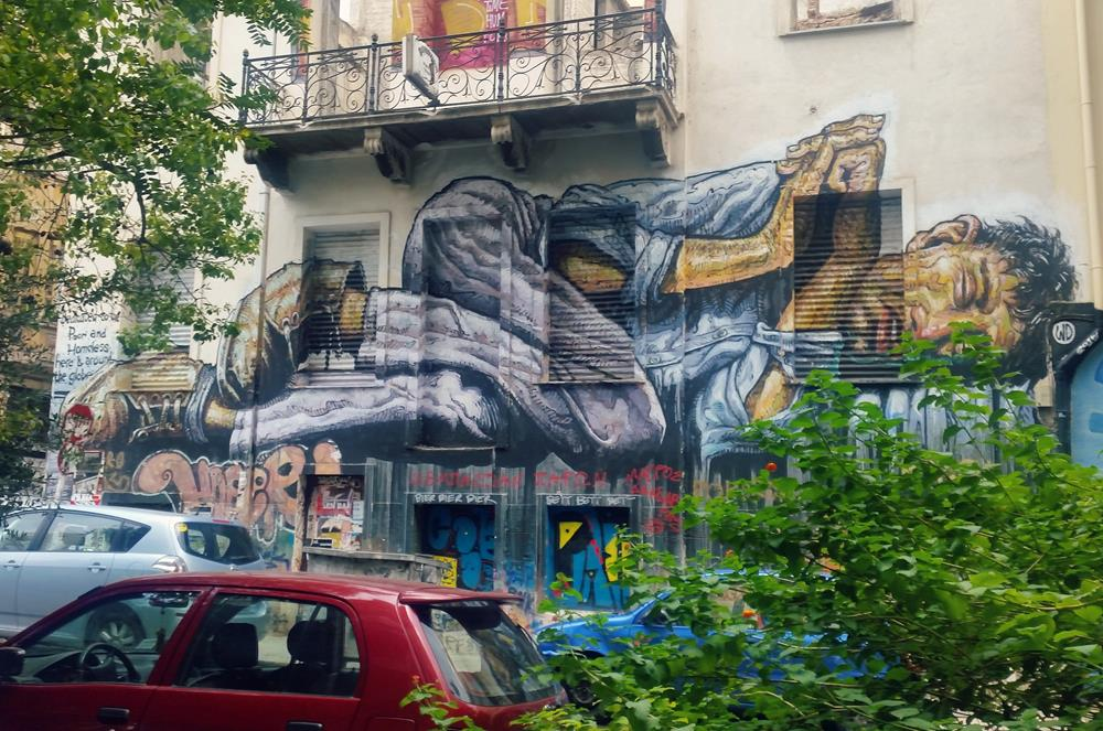 Mural by WD Wild Drawing in Exarchia area