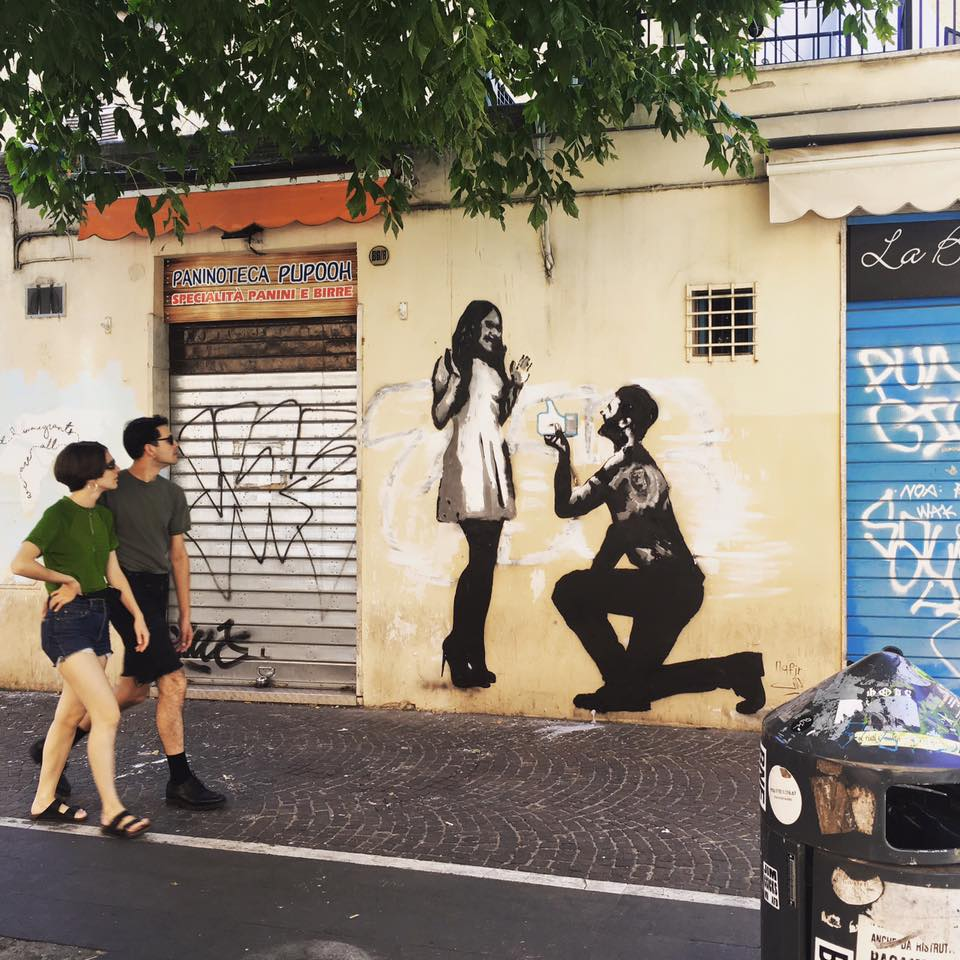 Nafir art in Rome, Italy
