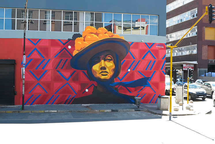 NEW DOURONE'S MURAL IN JOBURG