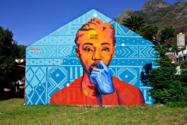 DOURONE MURAL IN CAPE TOWN, South Africa