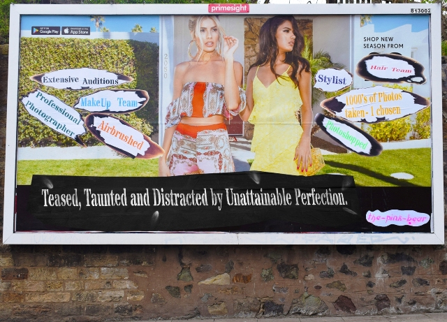 Billboard street art by Thepinkbear