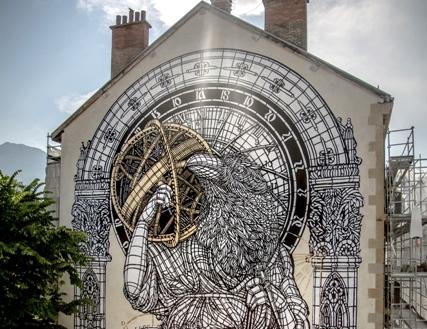 Monkeybird Mural – Grenoble street art Festival