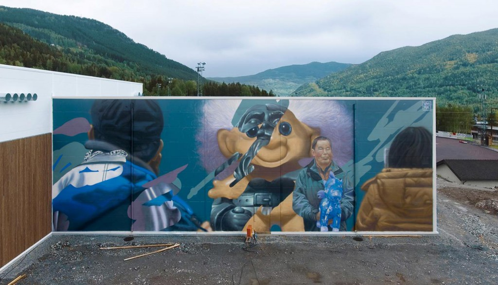 Telmo Miel mural in Norway