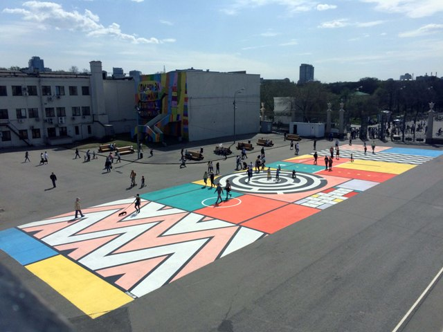 Colorfull carpet by Zukclub in Moscow