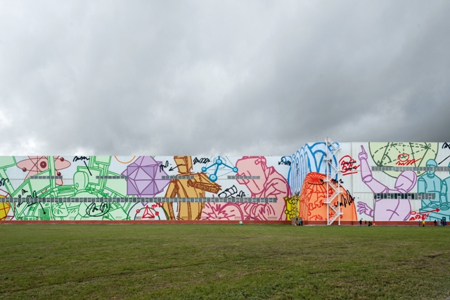 The largest mural in the world created in Russia