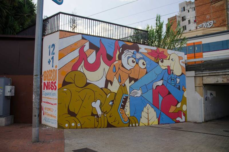 New mural by FERNANDO LEON in Barcelona