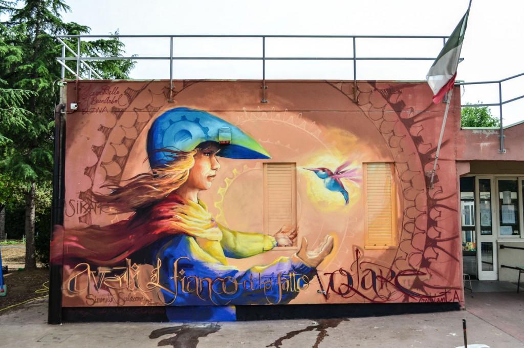 5 walls of El Niño De Las Pinturas in ROME