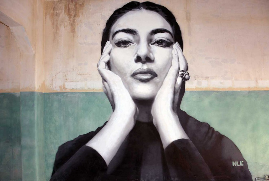 Maria Callas 40th anniversary mural in Patras