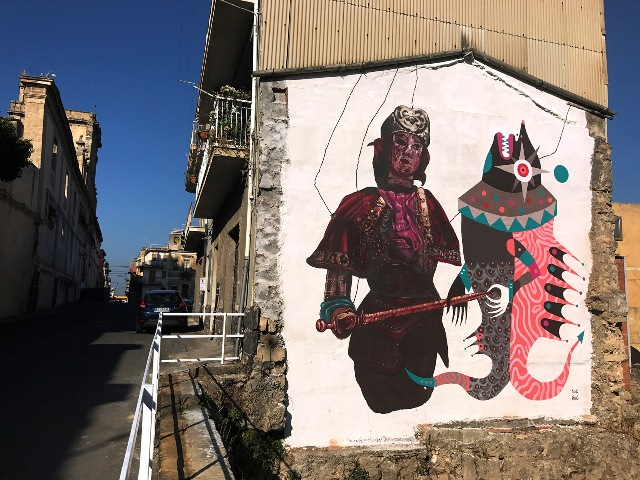 Gio Pistone and Nicola Alessandrini new mural in Sicily