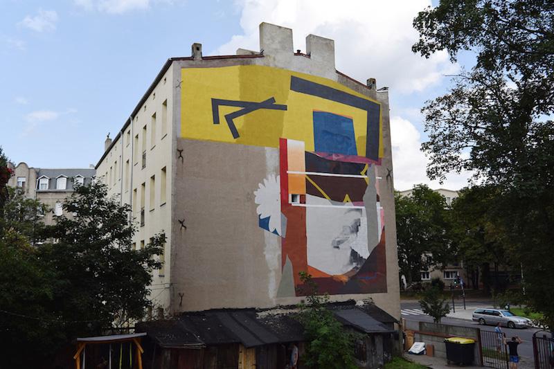 Ivan Ninety and Johannes Mundinger Mural in Łódź, Poland