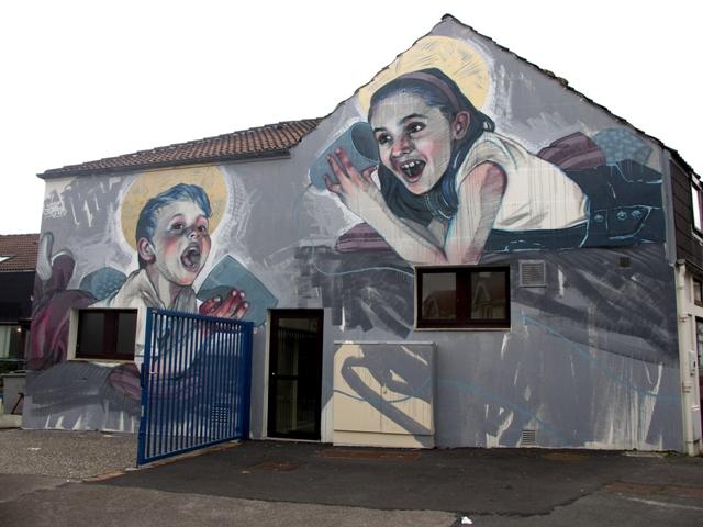 Dan Ferrer wall in Outreau (France).