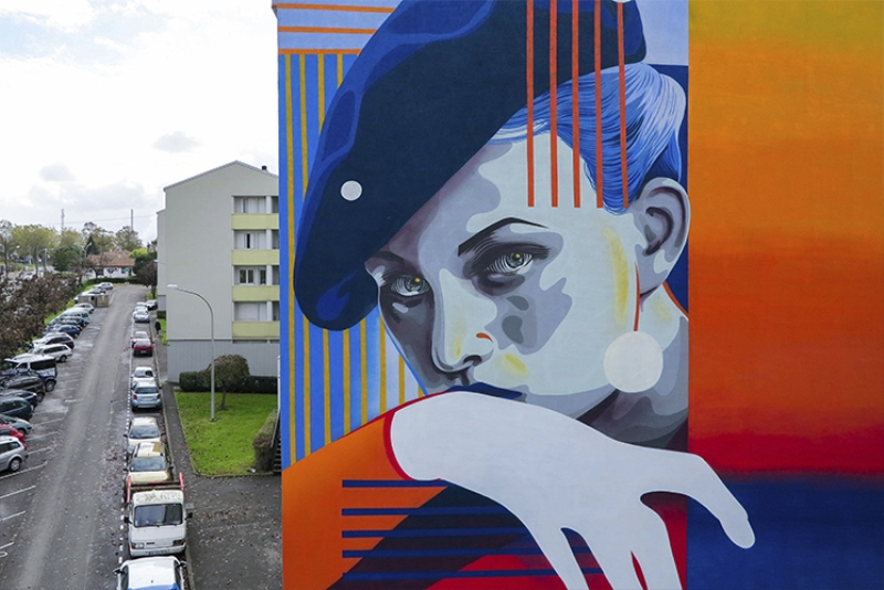 Dourone wall in Bayonne, France.