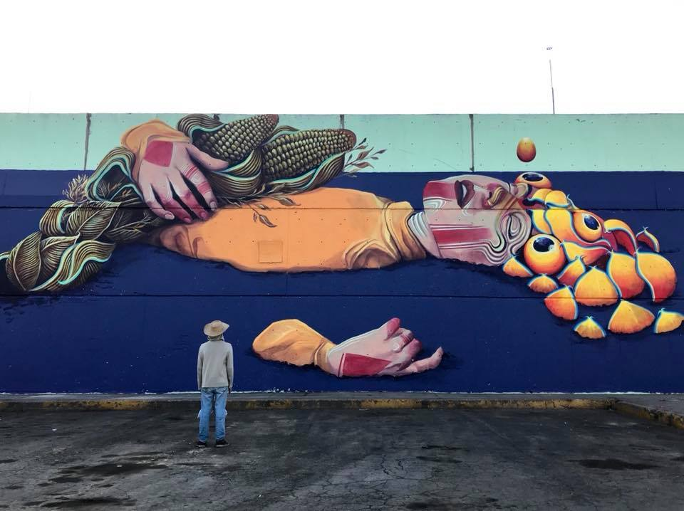 New Mural by Gleo in Mexico