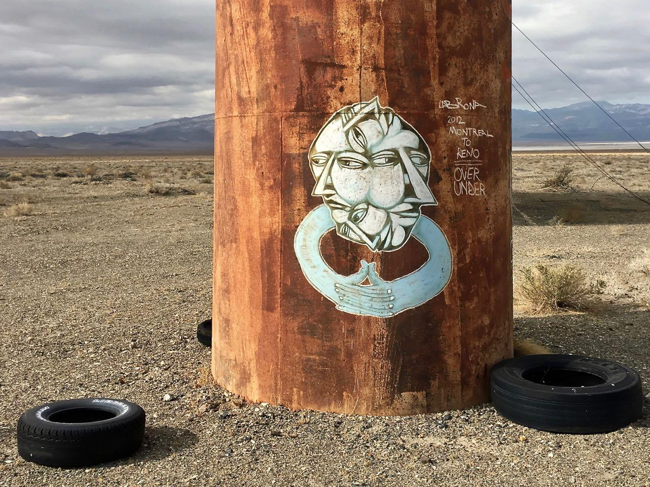 Nevada's eroded Coaldale - I Support Street ArtI Support
