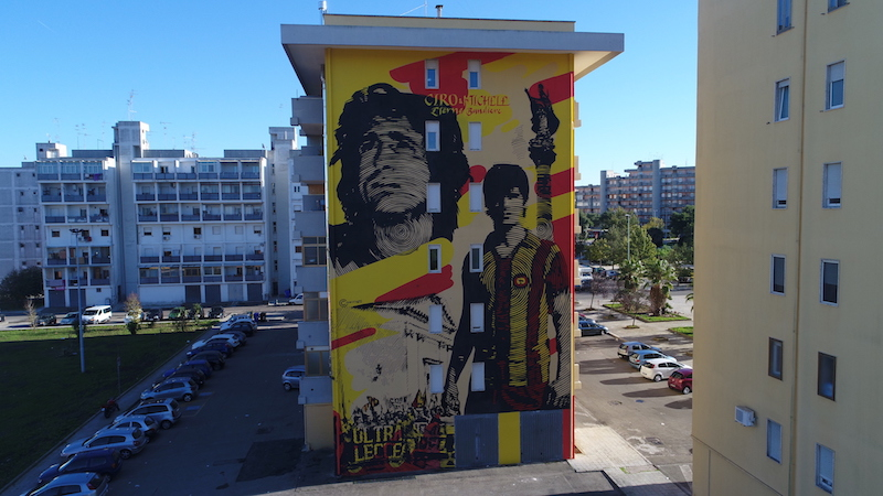 Chekos art honors football heroes in Lecce