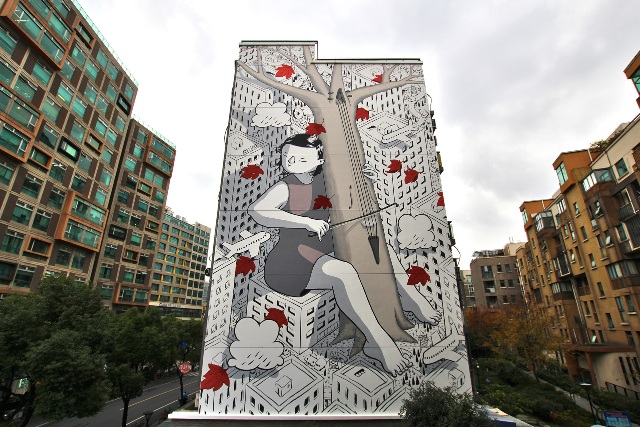Millo's latest murals in Shanghai