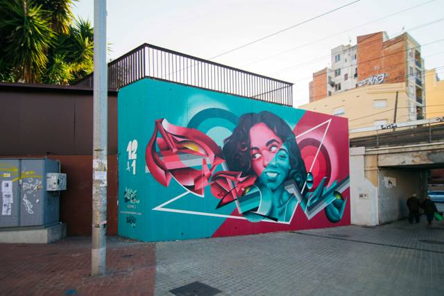 Mural by female artist ZURIK launches 2018 Proyect 12+1 in Barcelona