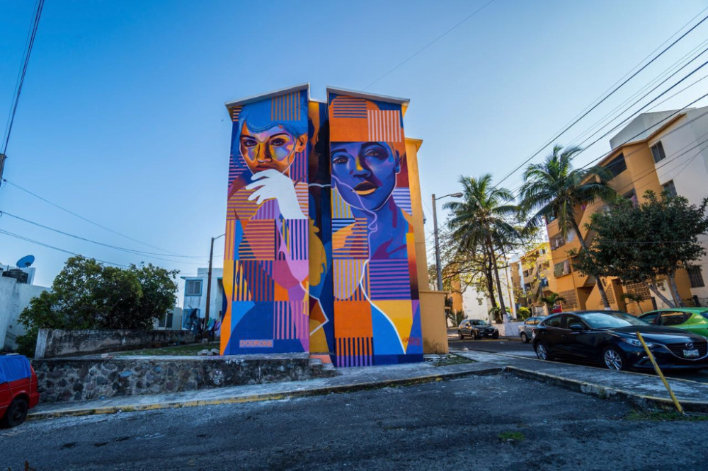 New mural by Dourone in Mexico