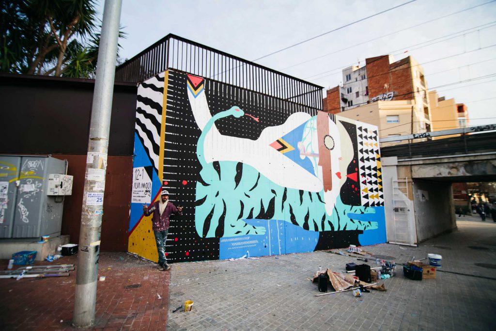ALVA MOCA hits the wall in Barcelona
