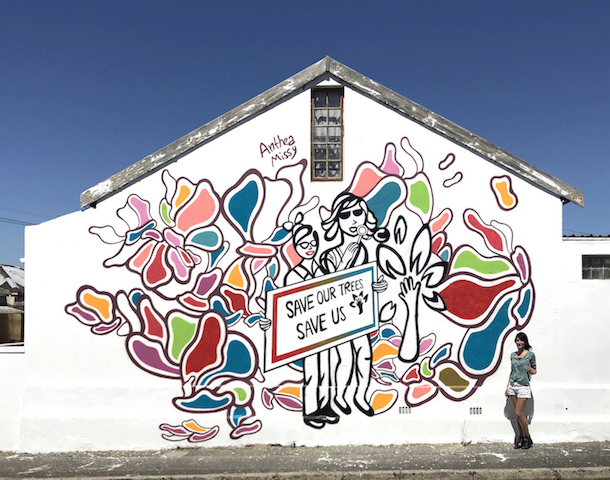 Anthea Missy New wall 'We are nature' in Cape Town