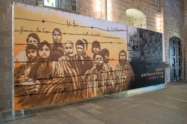 Street art in remembrance of the Holocaust victims
