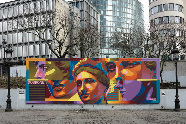 Brussels new art piece by Dourone