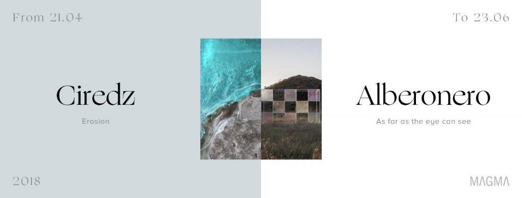 """Alberonero """"As far as the eye can see"""" and Roberto Ciredz """"Erosion"""""""