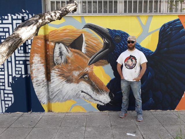 Alessio Bolognesi wall for Athens Street Art Festival