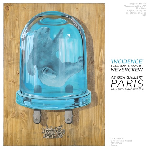 """""""Incidence"""" solo exhibition by NEVERCREW"""