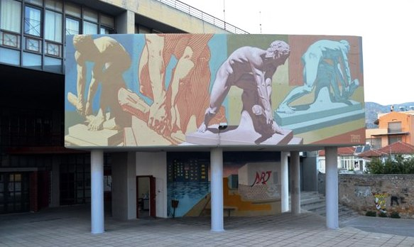 New Urbanact mural in Volos for CityCall Vol2