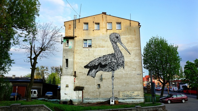 First murals in Ostrow Poland by Jewish-Israeli artists