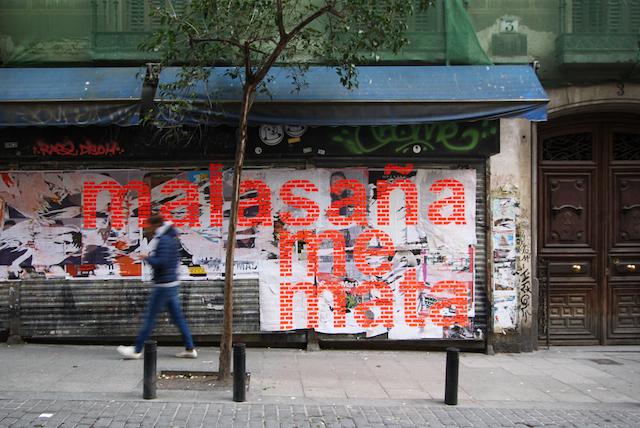 Josep Fernández Margalef sticker piece in Madrid