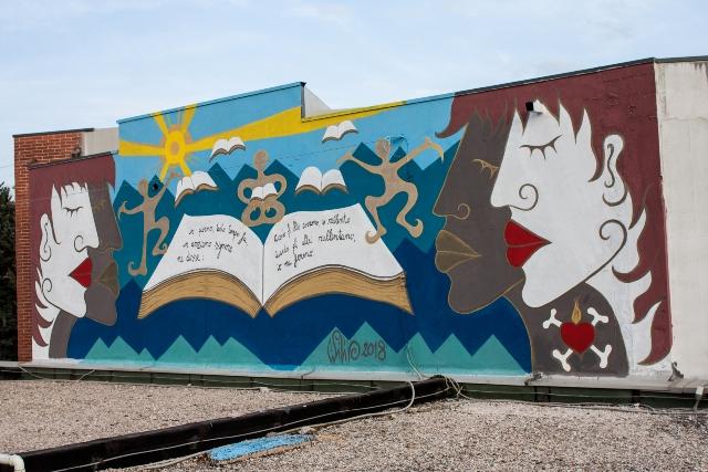 Yapwilli wall on Camerata Picena School