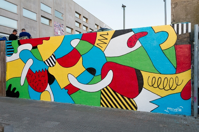 "Pouvelle mural ""Ctrl+U"" for Proyect 12+1 in Barcelona"